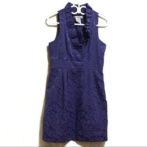 Madison Leigh Purple Embroidered Formal Dress
